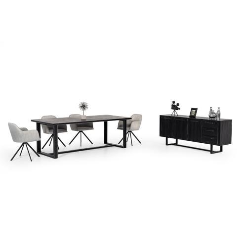 VIG Furniture - Modrest Hardy Modern Black Acacia Dining Table