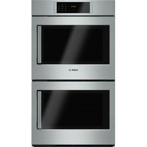 "BoschBENCHMARK SERIESBenchmark Series, 30"", Double Wall Oven, SS, EU conv./EU conv., TFT Touch Control, Right Swing"