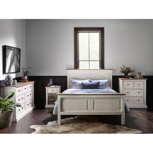 Cintra 4 Drawer Dresser-dw Nat/ls White