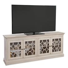 "Felicity 72"" Four Door TV Console - Powder White"