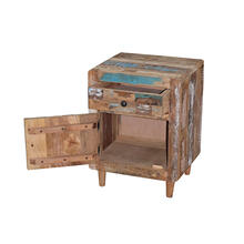 See Details - 1 Drawer, 1 Cabinet Nightstand - Reclaimed Sunset Finish