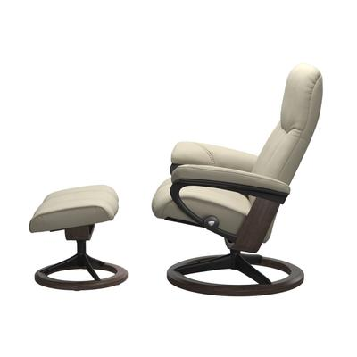 See Details - Stressless® Consul (M) Signature chair with footstool