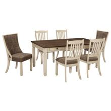 7 Piece Set  (Table, 4 Side Chairs and 2 Parsons Chairs)