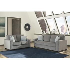 Altari Sofa & Loveseat Alloy