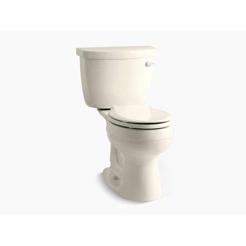 Kohler - Almond Two-piece Round-front 1.28 Gpf Toilet With Insuliner Tank Liner