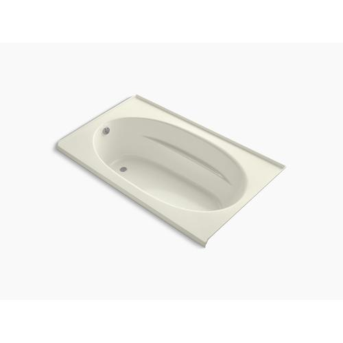 "Biscuit 72"" X 42"" Alcove Bath With Integral Flange and Left-hand Drain"
