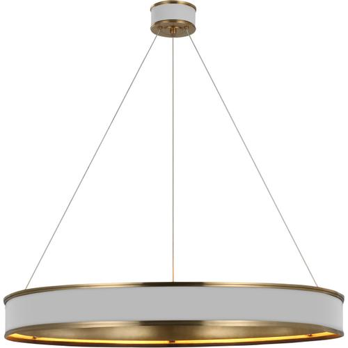 Visual Comfort - Chapman & Myers Connery LED 40 inch Matte White and Antique-Burnished Brass Ring Chandelier Ceiling Light