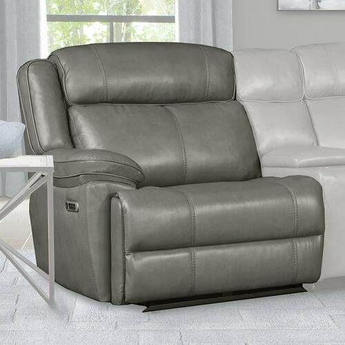ECLIPSE - FLORENCE HERON Power Left Arm Facing Recliner