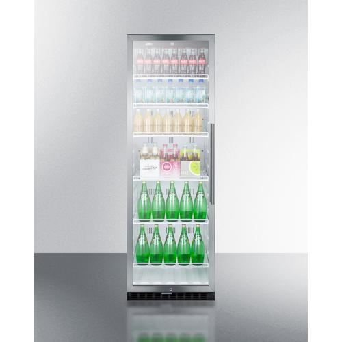 Commercial Beverage Merchandiser Designed for the Display and Refrigeration of Beverages and Sealed Food, With 12.6 CU.FT. Capacity, Digital Thermostat and Self-closing Door With A Left Hand Swing