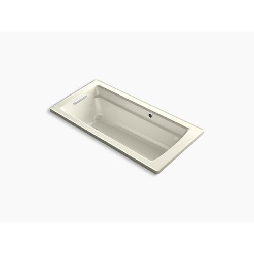 "Biscuit 66"" X 32"" Drop-in Bath With Bask Heated Surface and Reversible Drain"