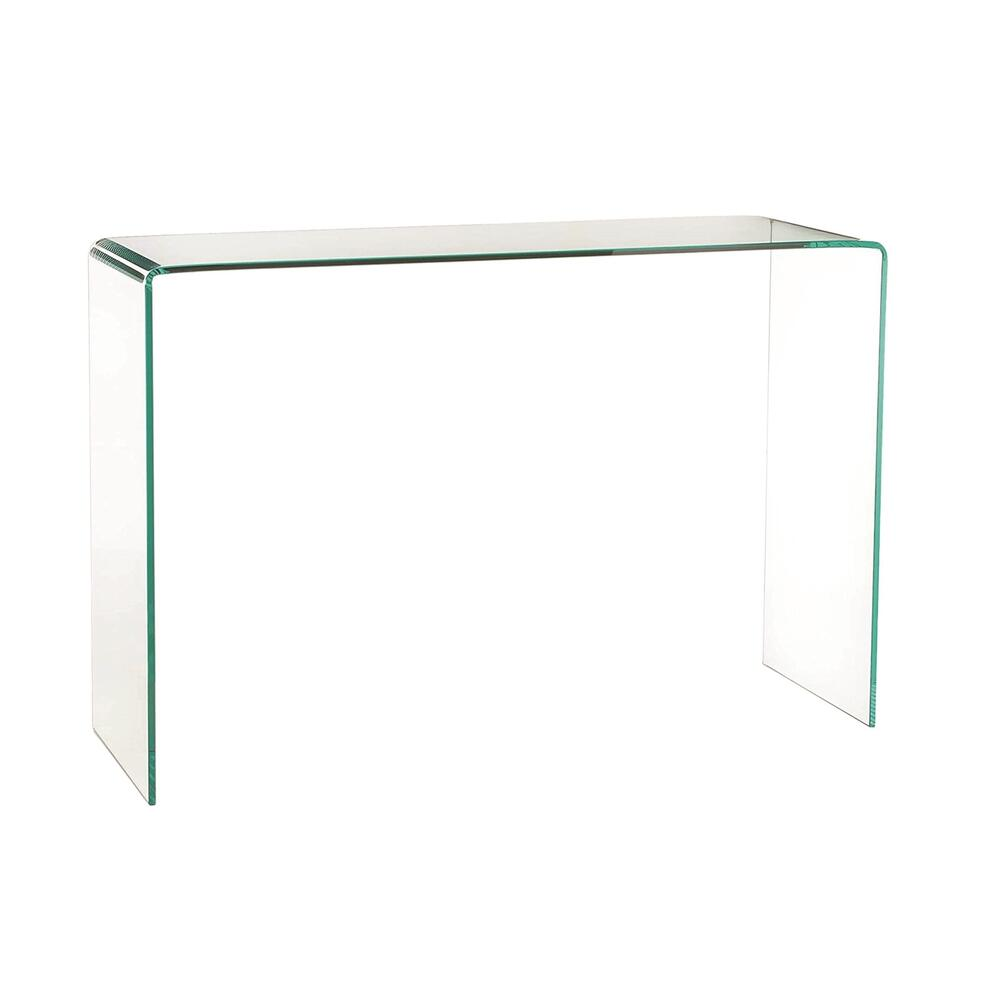 The Casetta Console In Clear Bent Glass