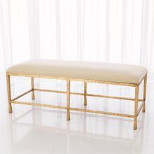 See Details - Quad Pod Bench w/Muslin Cushion-Gold Leaf