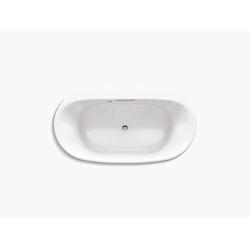 "Thunder Grey 66"" X 36"" Drop-in Bath With Bask Heated Surface"