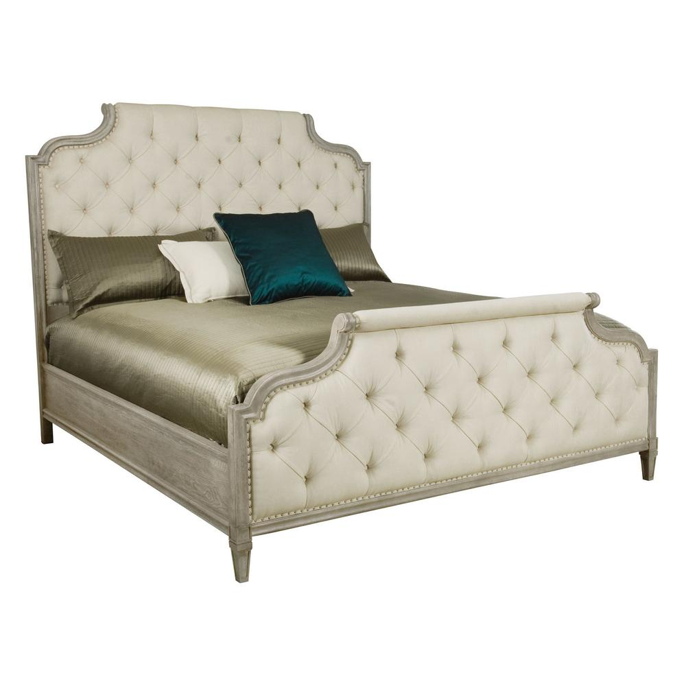 King Marquesa Upholstered Bed in Gray Cashmere (359)