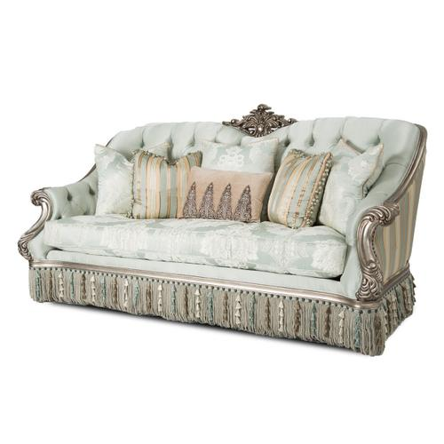 Vivienne Wood Trim Sofa Platinum