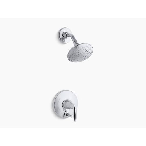 Kohler - Oil-rubbed Bronze Rite-temp Shower Trim Set With Push-button Diverter, Valve Not Included