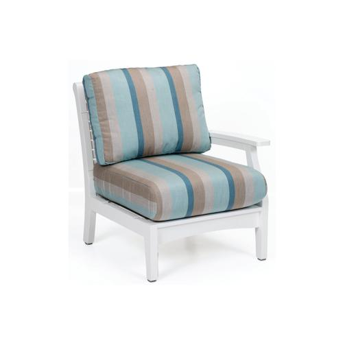 Classic Terrace Left Arm Sectional Club Chair