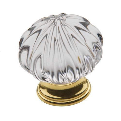 Baldwin - Polished Brass Crystal Cabinet Knob