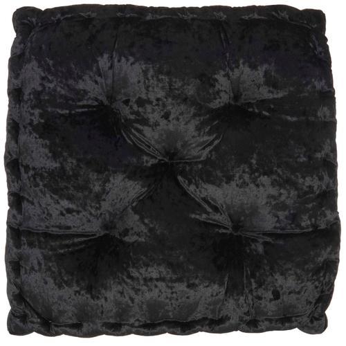 "Life Styles L0225 Black 24"" X 24"" X 4"" Throw Pillow"