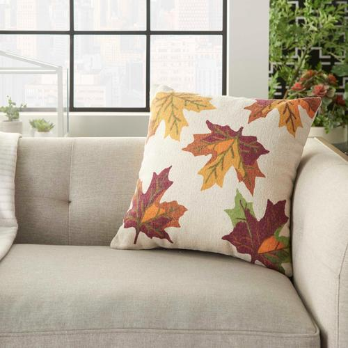 "Home for the Holiday Dl512 Multicolor 20"" X 20"" Throw Pillow"