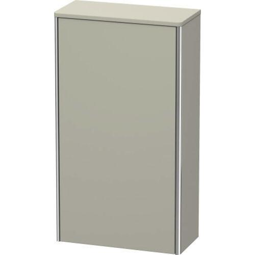 Semi-tall Cabinet, Taupe Satin Matte (lacquer)