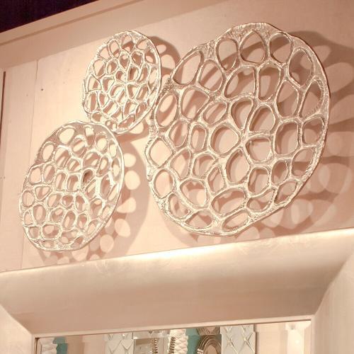 Howard Elliott - Nickel Plated Open Honeycomb Wall Art - Medium