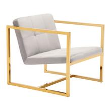See Details - Alt Arm Chair Gray & Gold