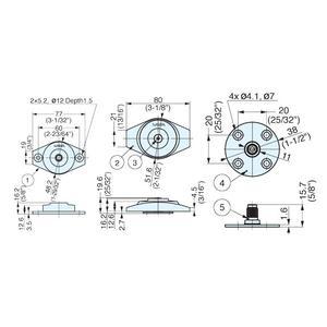 Disk Damper / Pivot Hinge