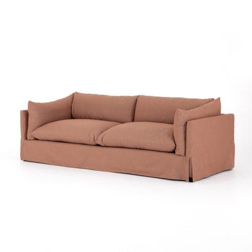 """90"""" Size Vesuvio Rust Cover Habitat Sofa"""