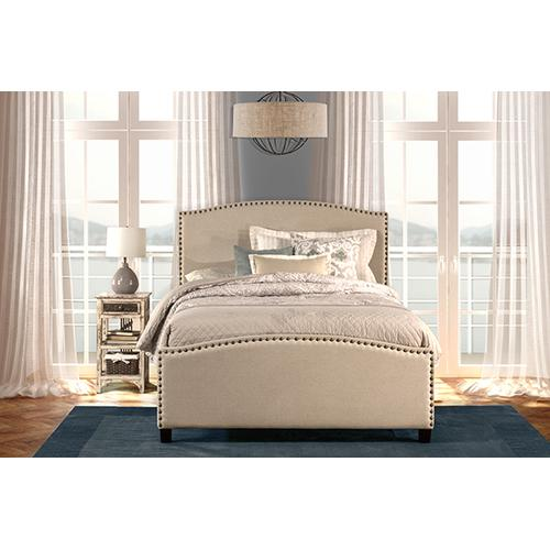 Product Image - Kerstein Bed Set - King - Rails Included - Lt Taupe