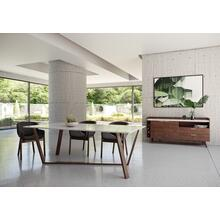 View Product - Nova Domus Jozy - Modern Marble & Walnut Dining Table