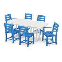 View Product - La Casa Cafu00e9 7-Piece Dining Set in Pacific Blue