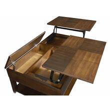 View Product - Double Lift Top Cocktail - Regal Walnut Finish