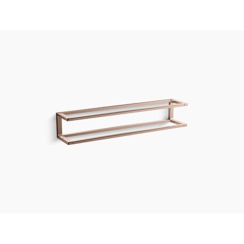 "Vibrant Rose Gold 24"" Towel Bar Frame"