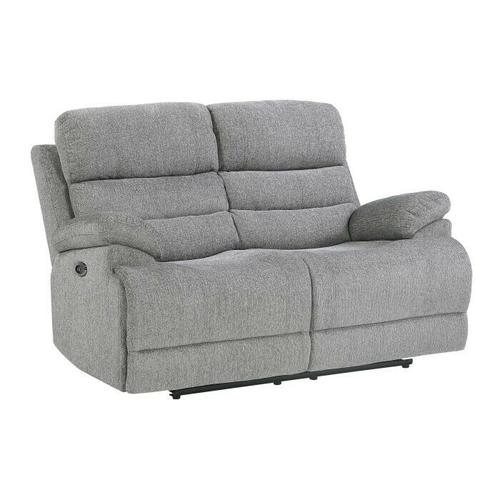Homelegance - Power Double Reclining Love Seat with Power Headrests and USB Ports
