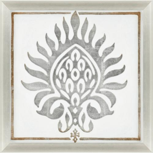Product Image - Brocade In White I