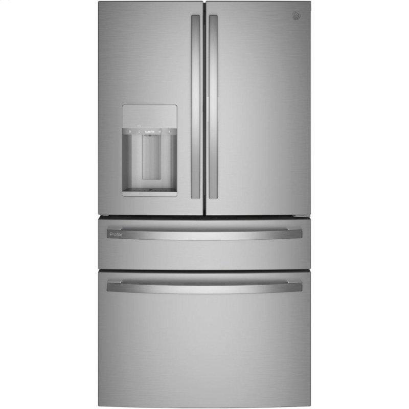 27.9 Cu. Ft. Smart Fingerprint Resistant 4-Door French-Door Refrigerator with Door In Door