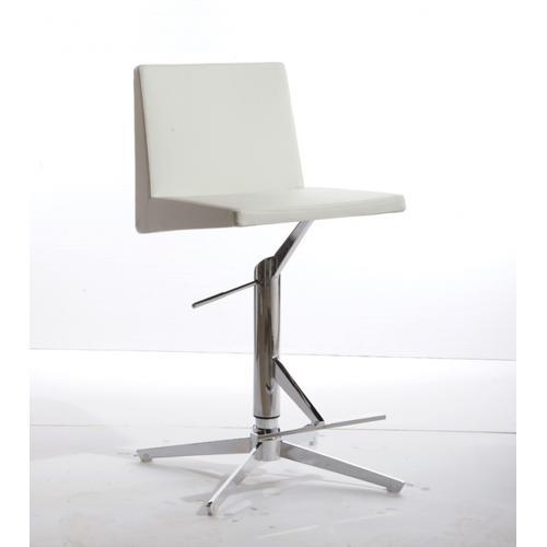 Gallery - Modrest Arrakis Modern White Leatherette Bar Stool