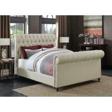Gresham Beige Upholstered Queen Bed