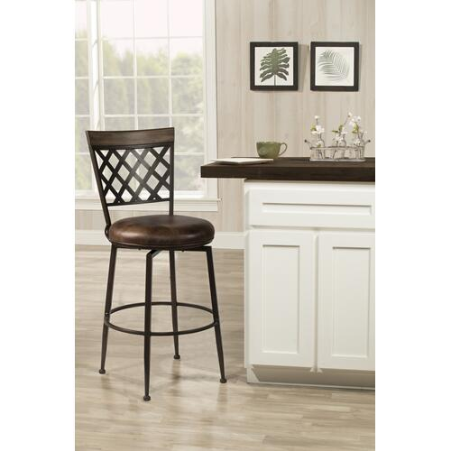 Greenfield Commercial Swivel Bar Height Stool, Dark Brown