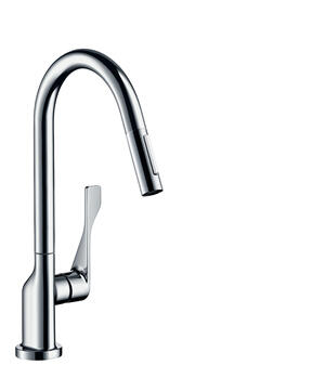 Chrome Single lever kitchen mixer 250 with pull-out spray Eco Product Image