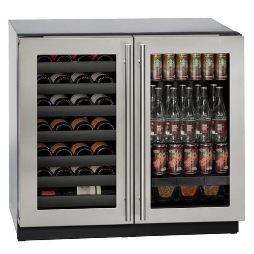 """U-Line - 3036bvwc 36"""" Beverage Center With Stainless Frame Finish (115 V/60 Hz Volts /60 Hz Hz)"""