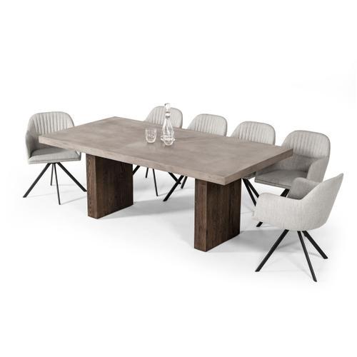 VIG Furniture - Modrest Rime Modern Concrete & Oak Dining Table