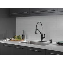 Matte Black Single Handle Pull-Down Kitchen Faucet with ShieldSpray