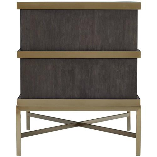 Beaumont End Table in Charcoal (792)