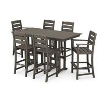 View Product - Lakeside 7-Piece Bar Set in Vintage Coffee