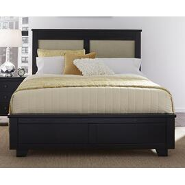 4/6-5/0 Full/Queen Upholstered Headboard - Black Finish