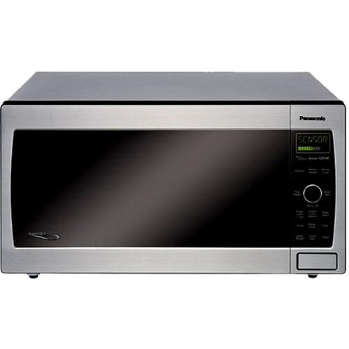 Full-Size 1.6 cu. ft. Countertop/Built-In Microwave Oven with Inverter Technology, Stainless