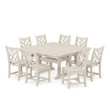 View Product - Chippendale 9-Piece Farmhouse Trestle Dining Set in Sand