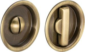 Sliding Pocket Door Mortise Lock in (SB Shaded Bronze, Lacquered) Product Image